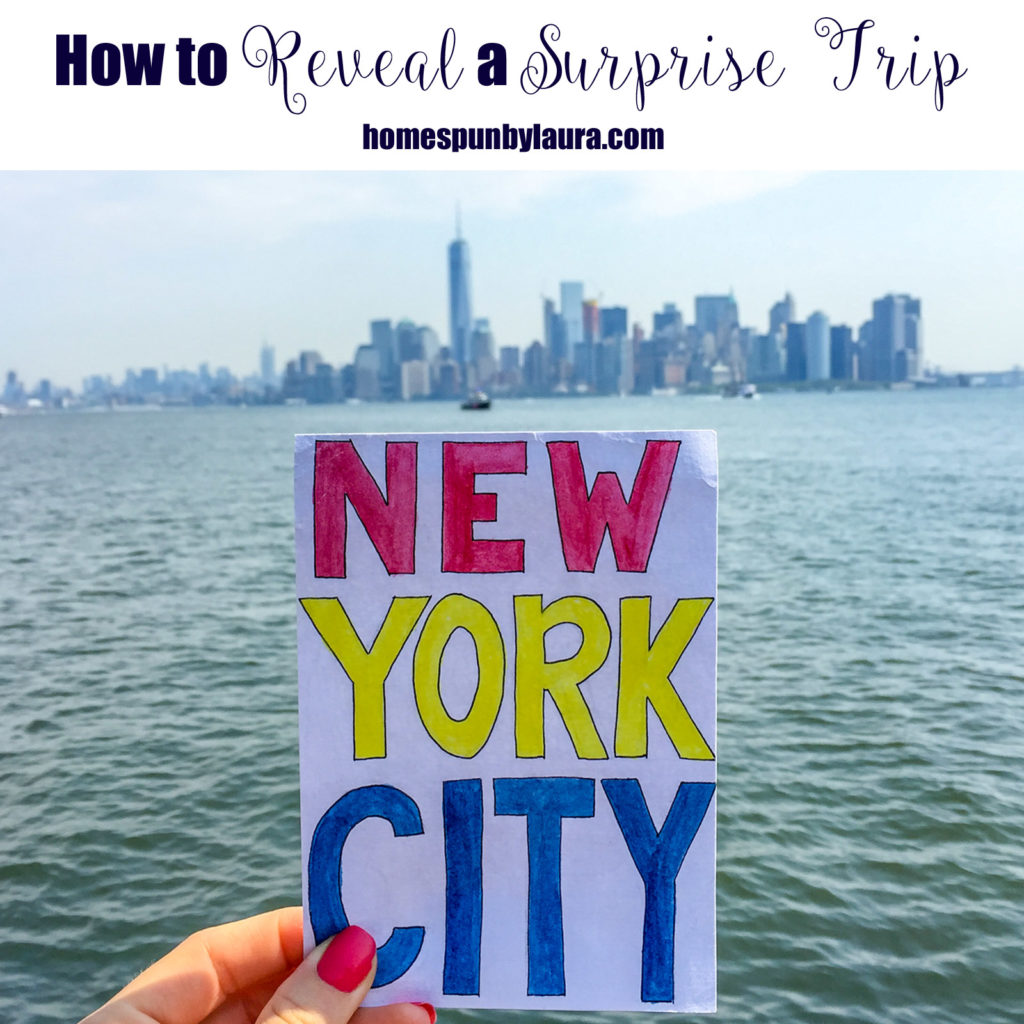 How to Reveal a Surprise Trip + Rediscovering my Love for Watercolors, Part 1 | Homespun by Laura | Create a scrapbook of photos or hand drawings as a gift to reveal a surprise birthday or Christmas trip!