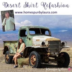 Desert Shirt Refashion: Lime Stripes   Homespun by Laura