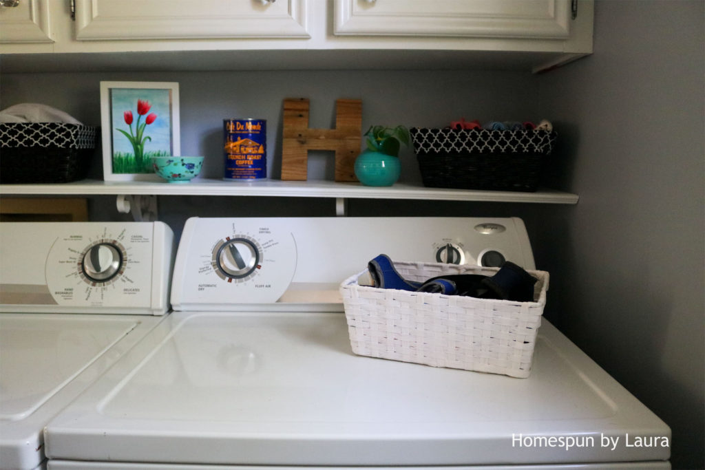 One Room Challenge: The Laundry Room Week 4   Homespun by Laura