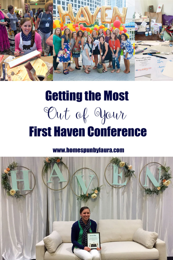 Getting the Most out of your First Haven Conference | Homespun by Laura | ATTENDING YOUR FIRST IN-PERSON BLOGGING EVENT CAN PUT BUTTERFLIES IN YOUR STOMACH, BUT THESE FIVE TIPS WILL HELP TO CALM YOUR NERVES AND GET THE MOST OF IT!  IF YOU'RE ON THE FENCE ABOUT ATTENDING A LIVE BLOGGING EVENT, YOU'RE IN THE RIGHT PLACE. READ ON FOR FIVE TIPS TO GET THE MOST OUT OF YOUR FIRST HAVEN CONFERENCE!