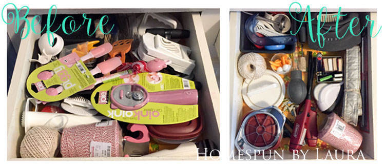 30 Projects in 30 Days | Organizing Kitchen Drawers 1 | Homespun by Laura