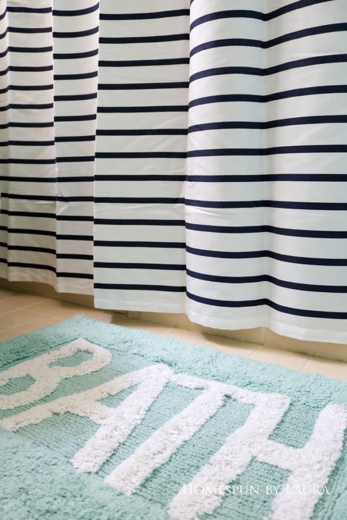 The $200 Master Bathroom Refresh   Homespun by Laura   A fun clearance bath mat