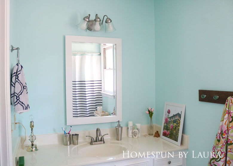 The $200 Master Bathroom Refresh   Homespun by Laura   The After: Art and decor