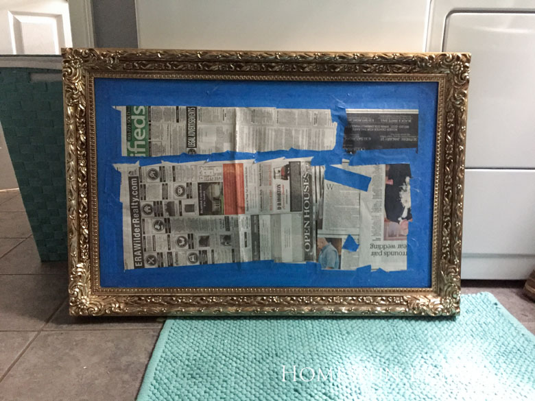 The $200 Master Bathroom Refresh   Homespun by Laura   DIY updated old mirror (Before)