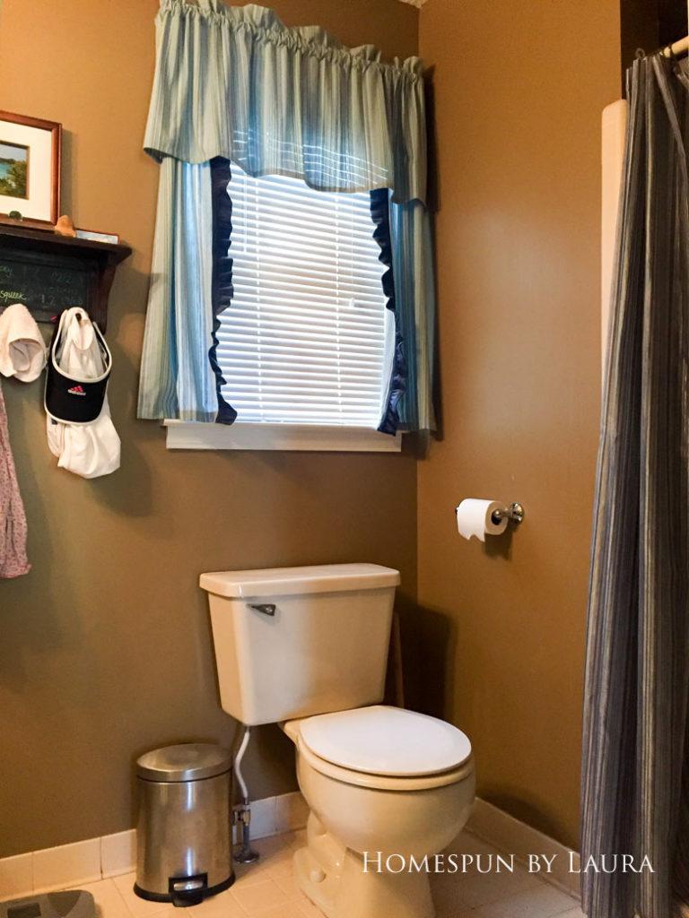 Master Bathroom Refresh: The Before   Homespun by Laura