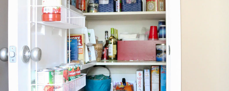 $75 DIY Powder Room (and Pantry!) Update: One Room Challenge Week 6 | Homespun by Laura | Organizing the Pantry