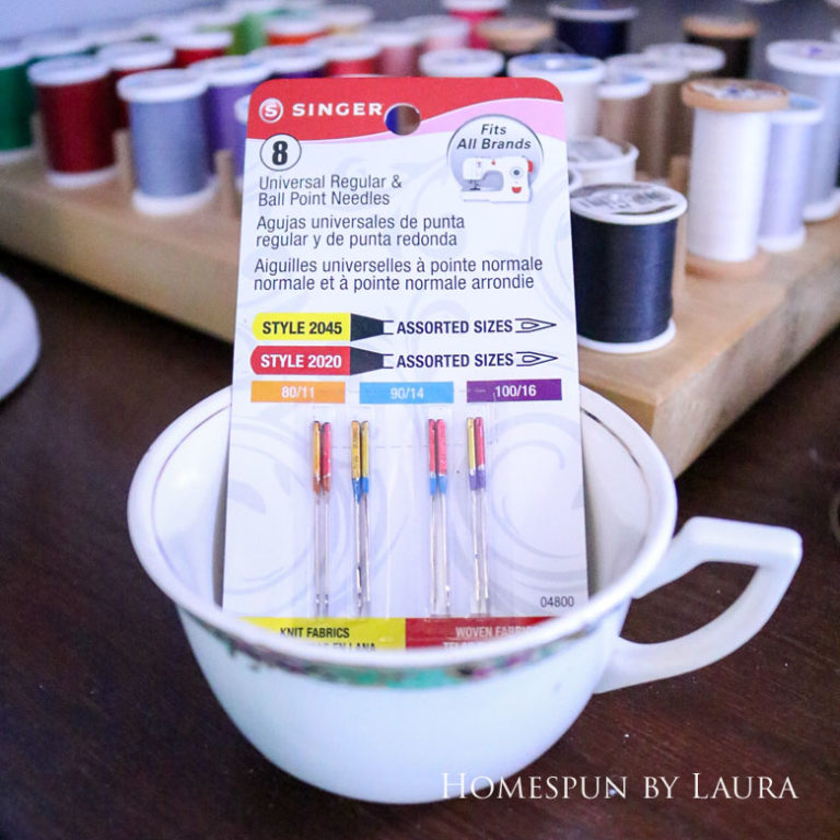 Singer sewing machine needle variety pack is a great stocking stuffer or small gift | DIY Gift Guide for Makers and DIYers by Homespun by Laura