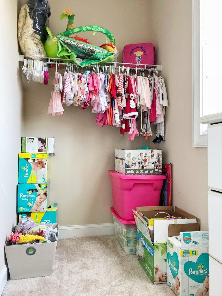 Nursery closet in progress - Fall 2018 One Room Challenge