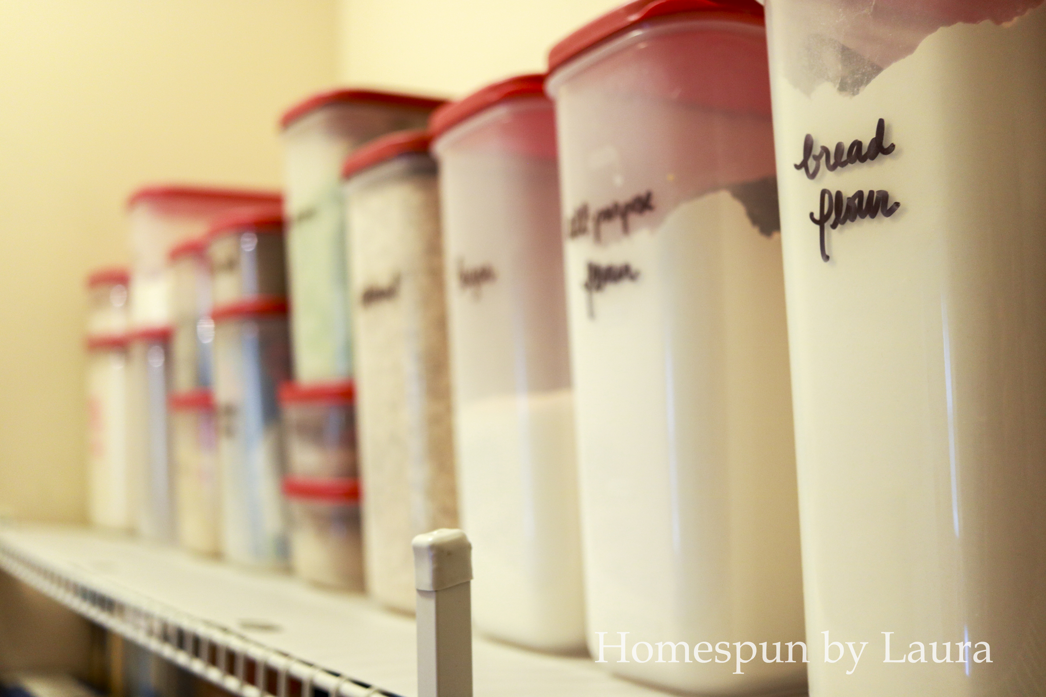 Inexpensive pantry goods baking ingredients dry storage containers
