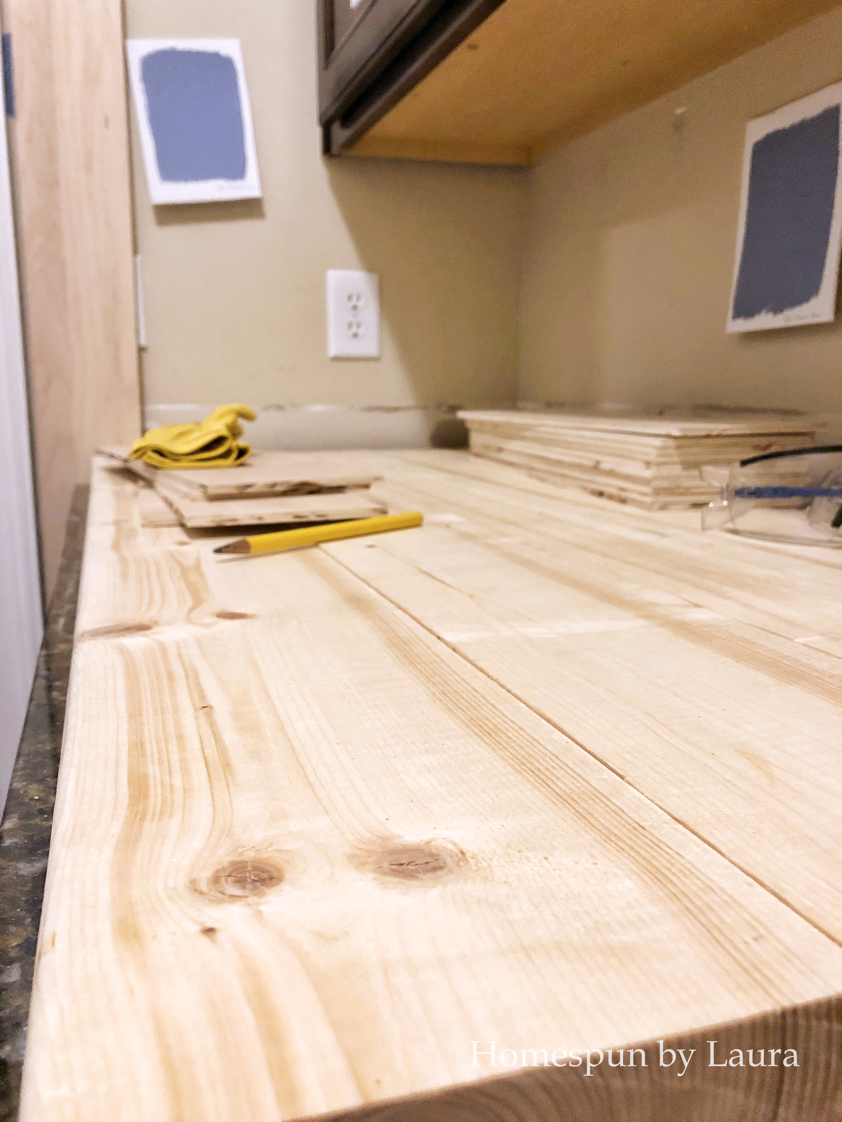 wood for new DIY wood counters