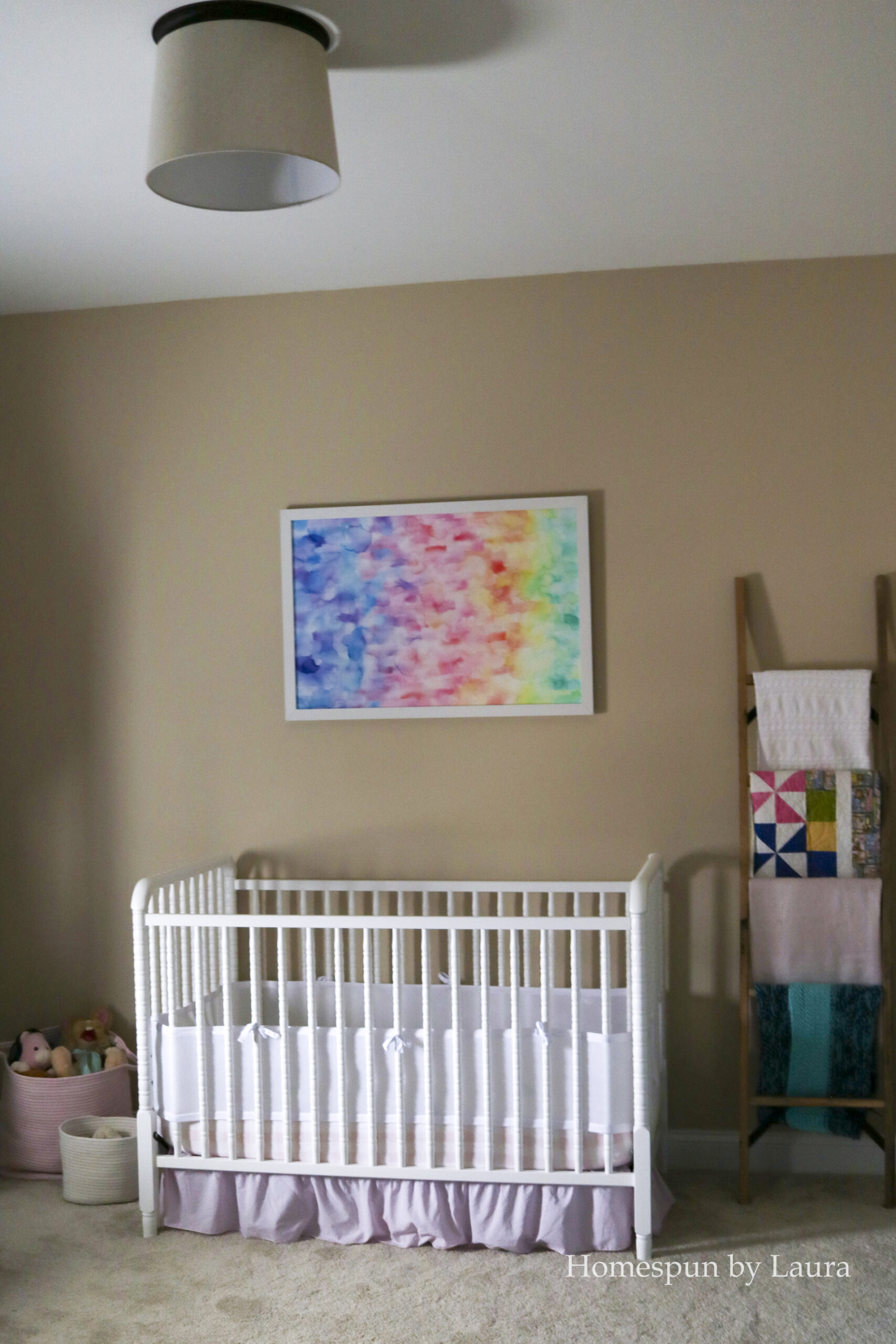 how to create large DIY watercolor abstract art