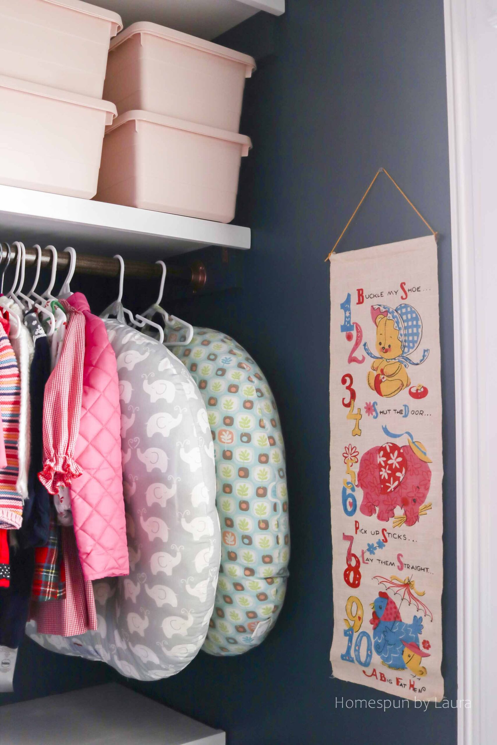 DIY Closet Shelving System - create an organized, functional, and pretty closet for under $250!