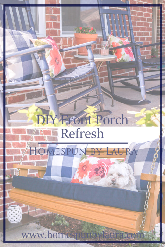 DIY Front Porch Refresh   simple ideas for big impact changes