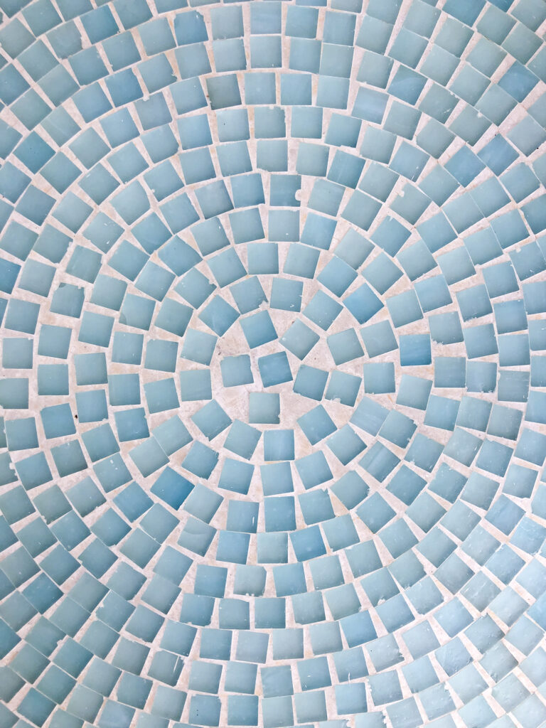 How to clean dirty grout on outdoor mosaic tile table with household cleaners   clean tile grout with baking soda & vinegar, baking soda, & bleach