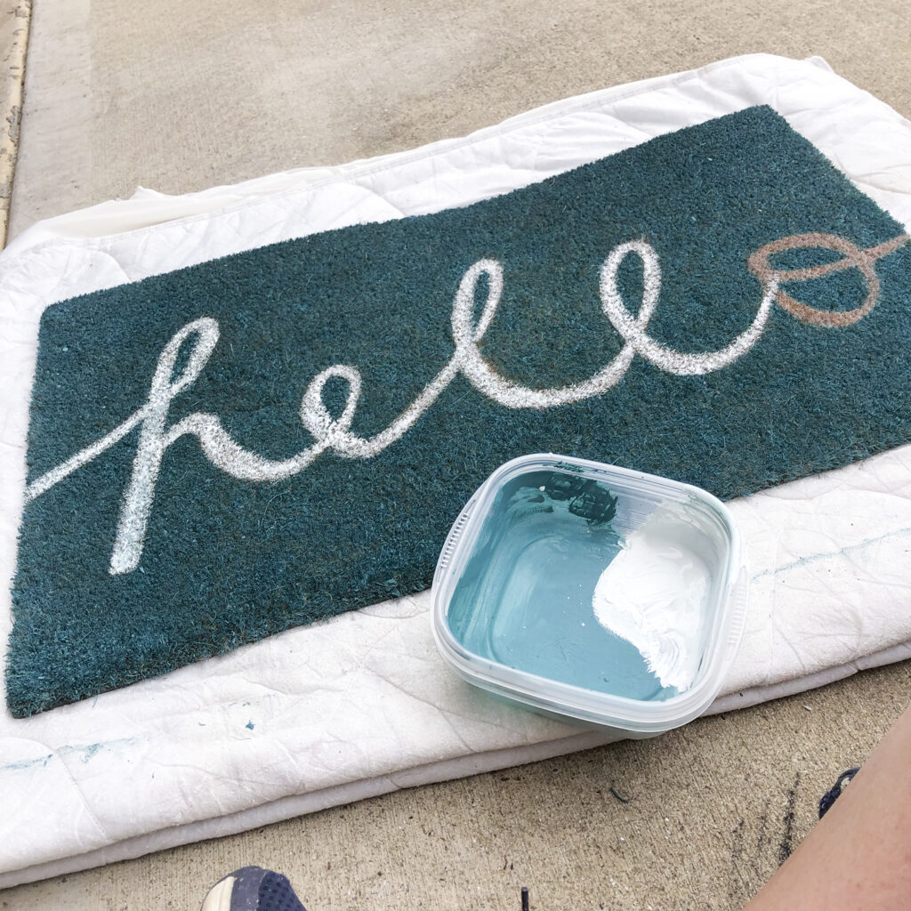 DIY Front Porch Refresh   simple ideas for big impact changes   How to repaint coir doormat budget diy